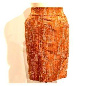 Burnt Orange and white J Crew skirt